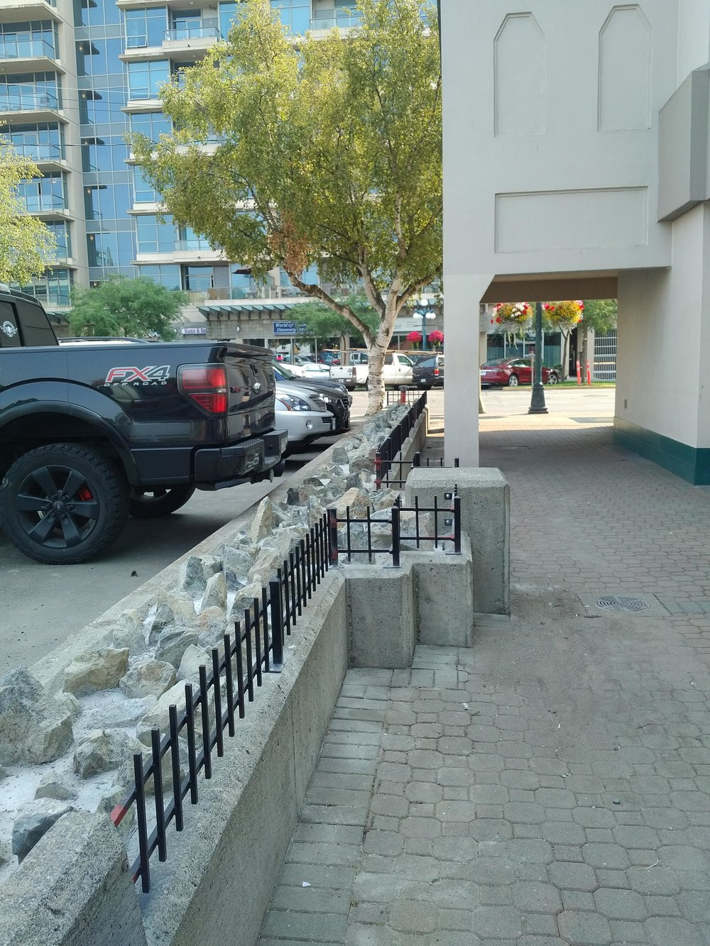 VicPD suggested 836 Yates put in concrete and rocks to stop people from using a ledge.