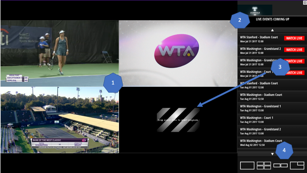 Switching between streams within WTA TV was quick and simple