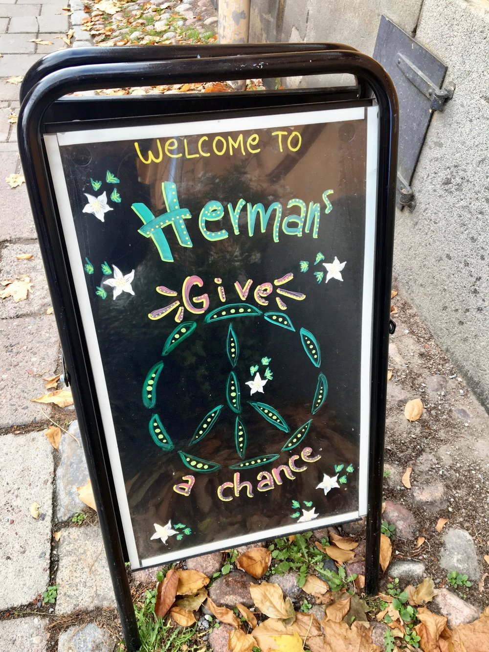 peas and blessings from Herman's