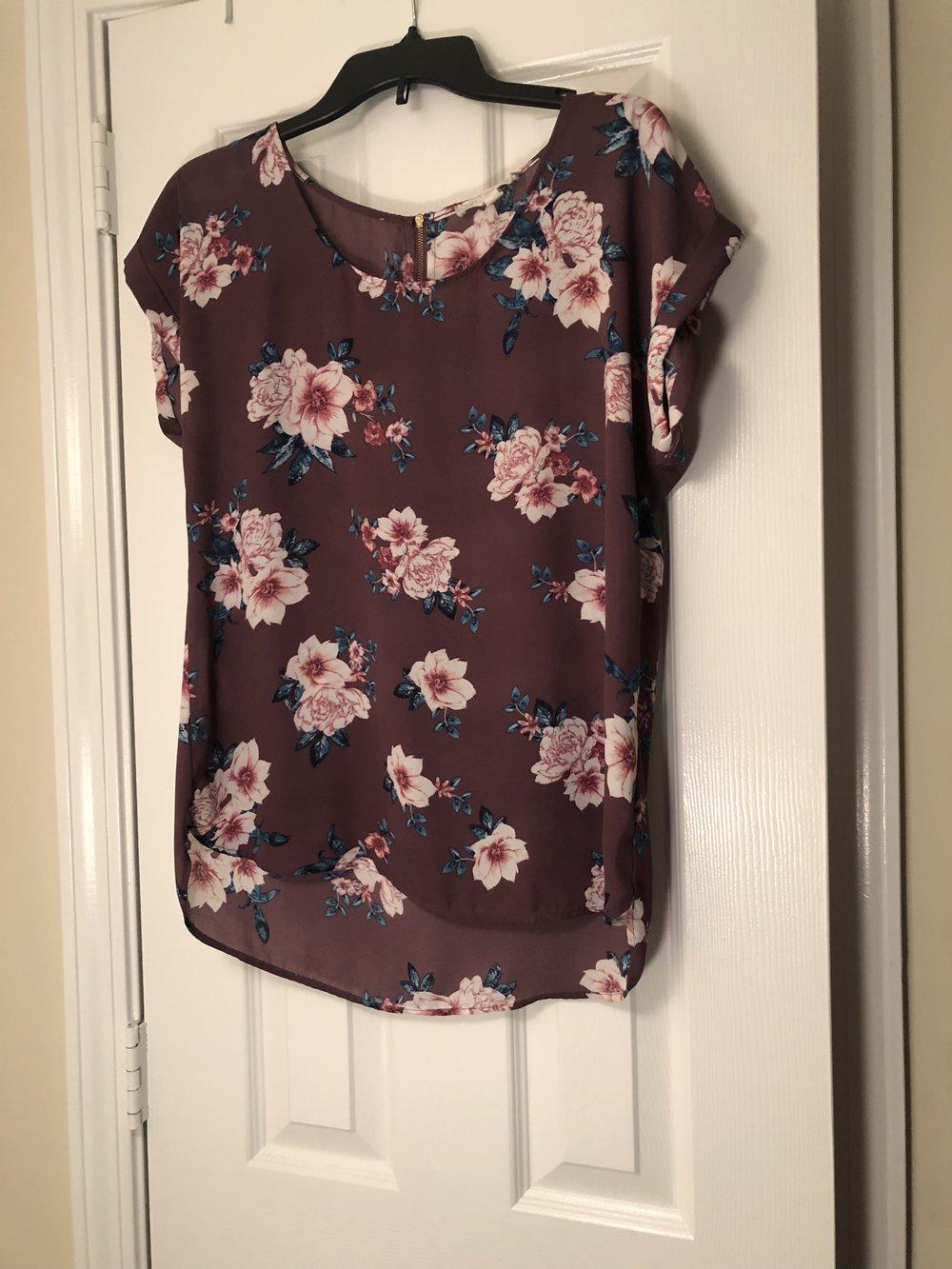 Mauve Floral Top