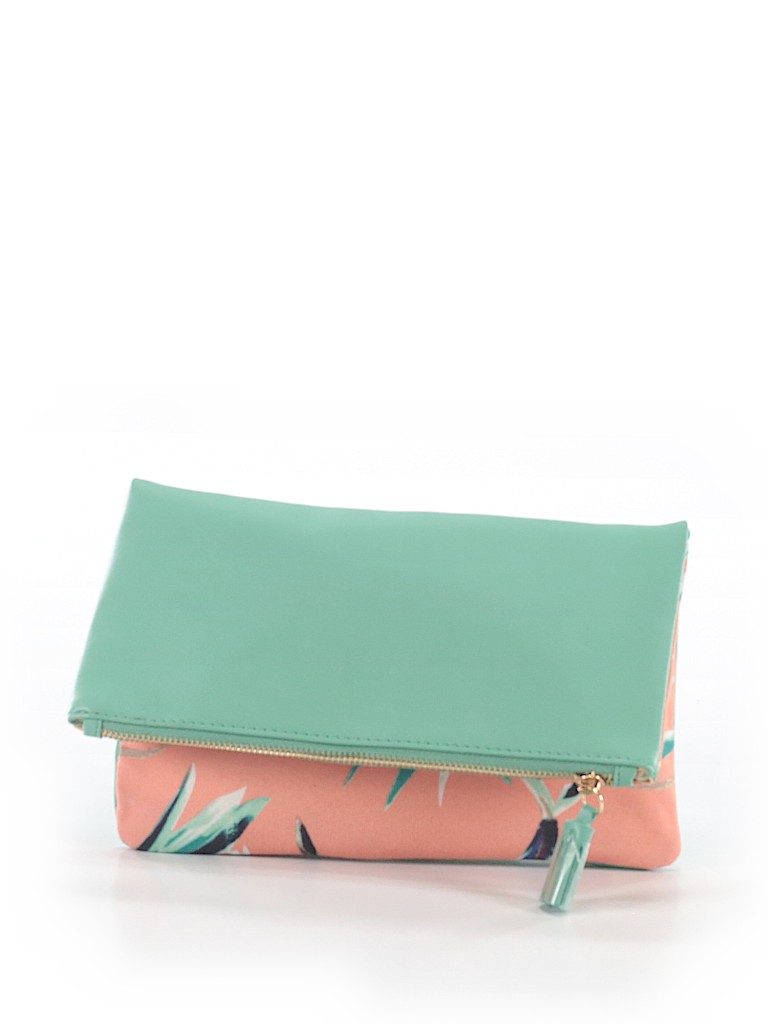 Pink/Mint Green Clutch