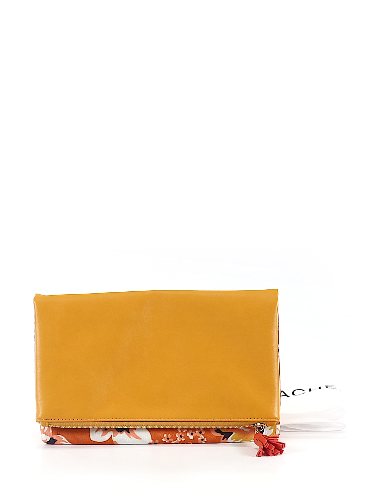 Orange Floral Clutch
