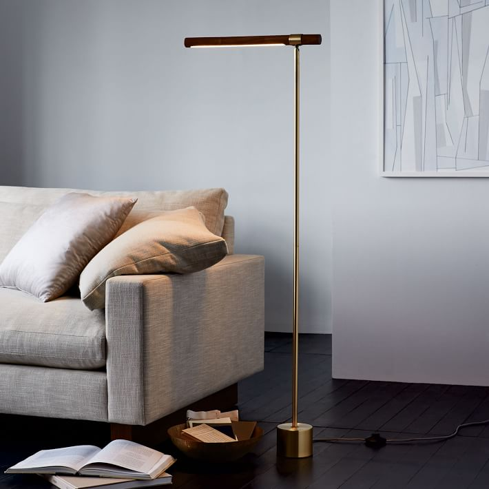 6 simple floor lamps for the living room wander nest photo via west elm mozeypictures Image collections