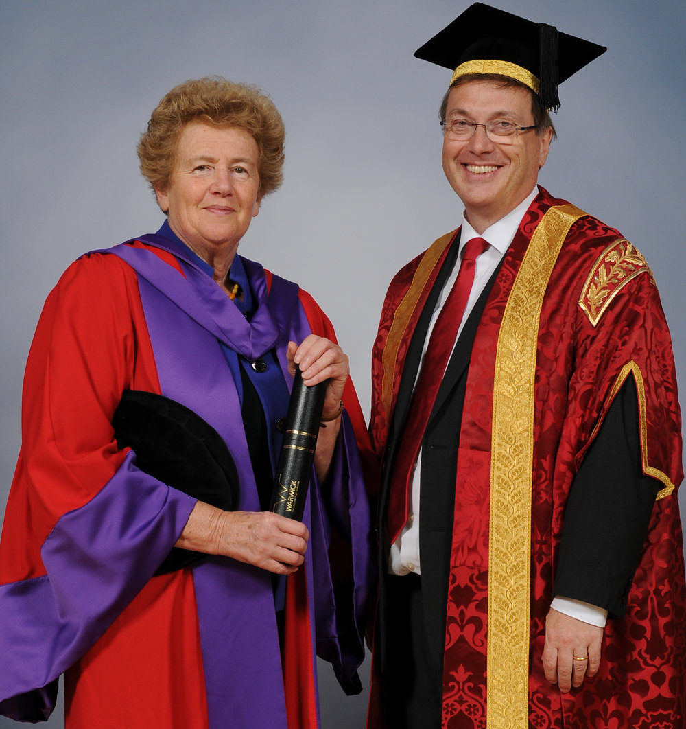 Pippa Norris and Prof. Stuart Croft, VC Warwick