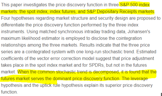 Price discovery on the S&P 500 index markets: An analysis of spot index, index futures, and SPDRs -  Quentin C.Chu, Wen-liang, Gideon Hsieh, YiumanTse