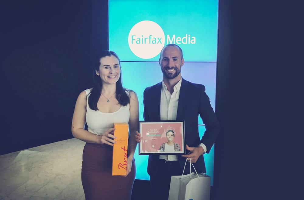 Thank you to the Fairfax Media team!
