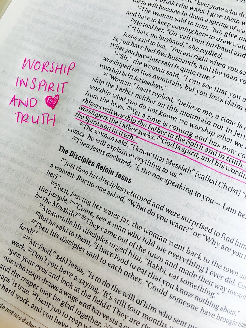 John 4:23-24 [NIV]