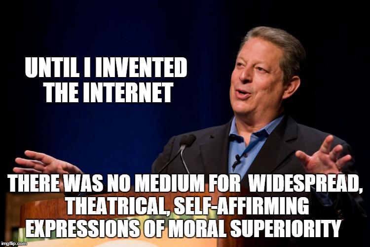 Thanks  Al Gore. Also, no thanks.
