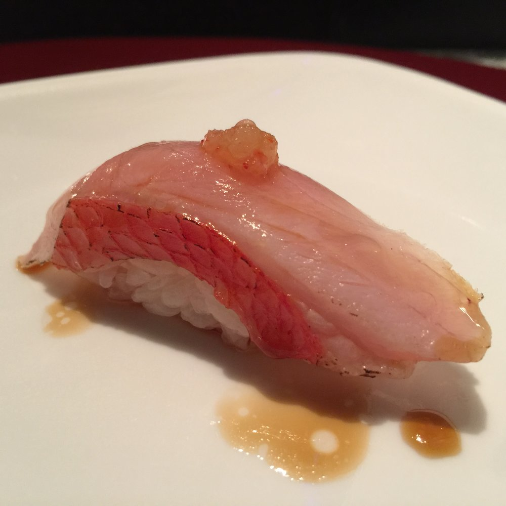 Japanese Golden Eye Snapper with daikon