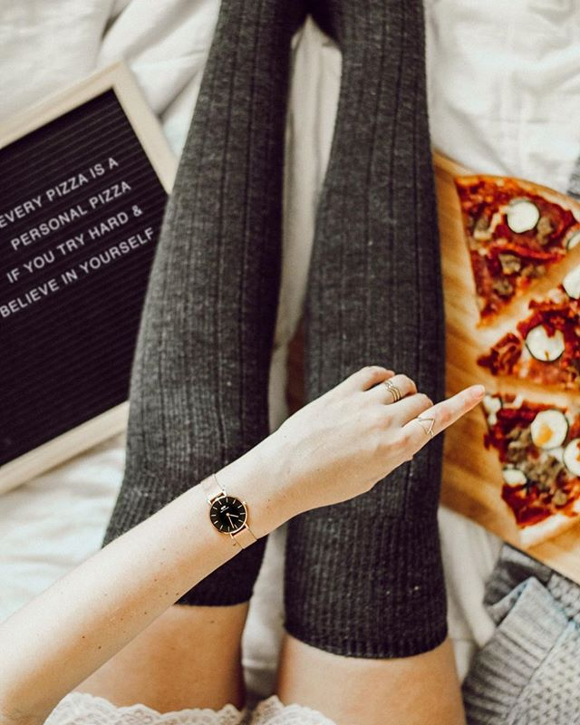 Don't stop believing 🍕🍕🍕⠀ ⠀ ⠀ ⠀ And cause I know you'll DM me- this watch is @danielwellington! (Use code 'kario' for 15% off...AKA always know when it's pizza time 😝)⠀ ⠀ #ad #danielwellington