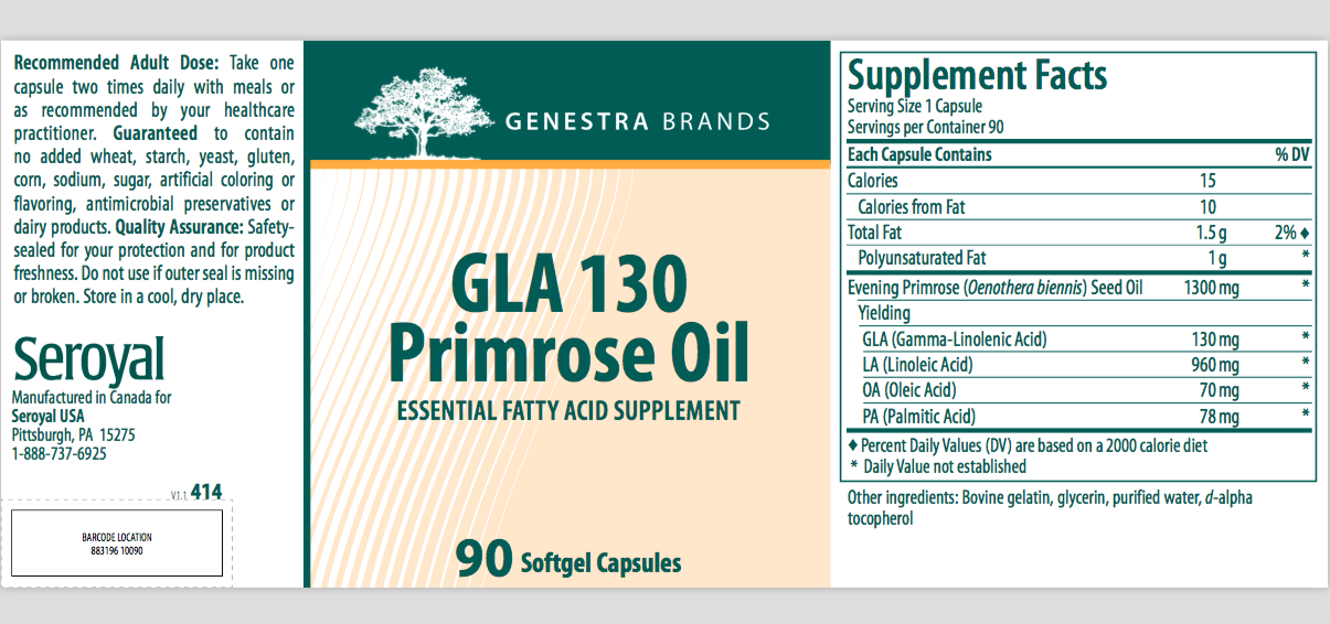 Evening Primrose oil GLA — www megreburn com