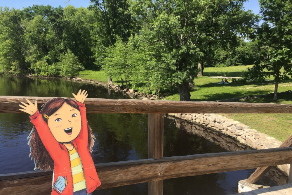 Cilla at the Old North Bridge in my hometown of Concord, MA!