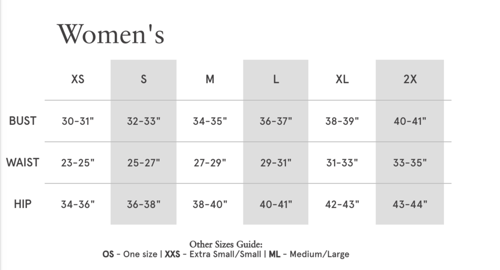 Strong 4 Pole's Tank Top Sizing Chart