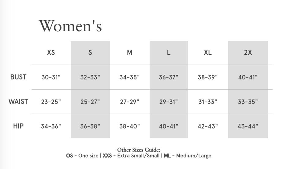Alternative Size Chart