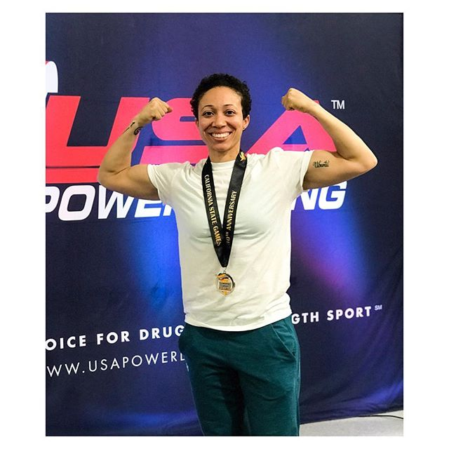 Congratulations to our fearless leader, @justmia23 for crushing her very first Power Lifting Meet over the weekend! Video coming soon. 💪🏽👊🏽 . . . #usapowerlifting #dedication #goalgetter #noexcuses #plantbasedathlete #teamliftandflow #miashante #liftandflowperformance