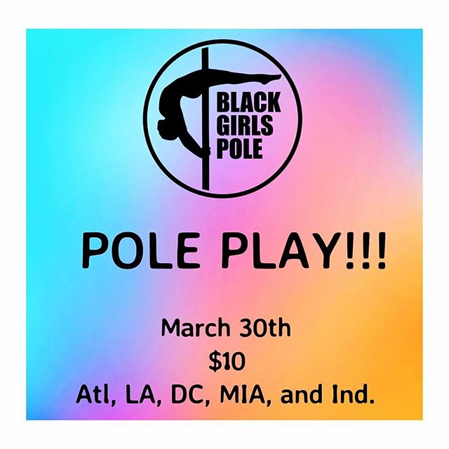 LA fam, in case you haven't heard, it's on!!! Lift & Flow Performance is hosting @blackgirlspole 1st POLE PLAY HANG OUT on Saturday, March 30th, 3-5pm. . . Take advantage of this amazing opportunity to meet new faces, have fun, learn cool stuff and bond. . . We'll kick it off by leading a 20 minute warm up, followed by an hour of free pole time! We'll then close out the fun with a 30 minute Q&A, discussing BGP, pole tips & tricks, as well as ideas you have for BGP growth. . . Registration is only $10. Link in bio. Space is limited, so hop to it. 😉 See you soon! . . . #blackgirlspole #polejam #polefamily #polecommunity #polelife #liftandflowperformance
