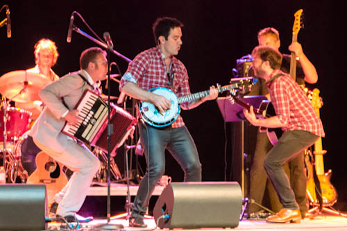 Michael with Ramin Karimloo and Hadley Fraser, Peterborough