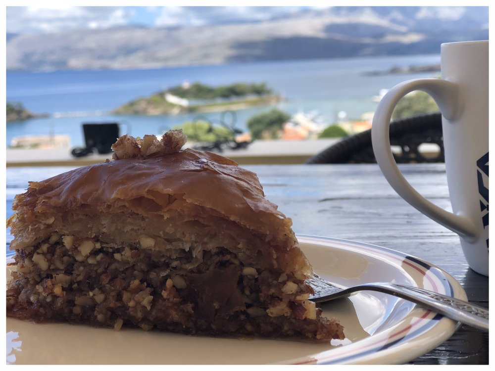 View with baklava!