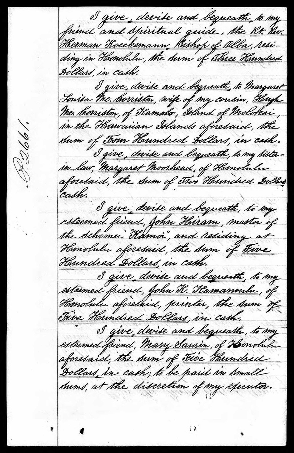The Last Will and Testament of John McColgan, Page 2, 1890