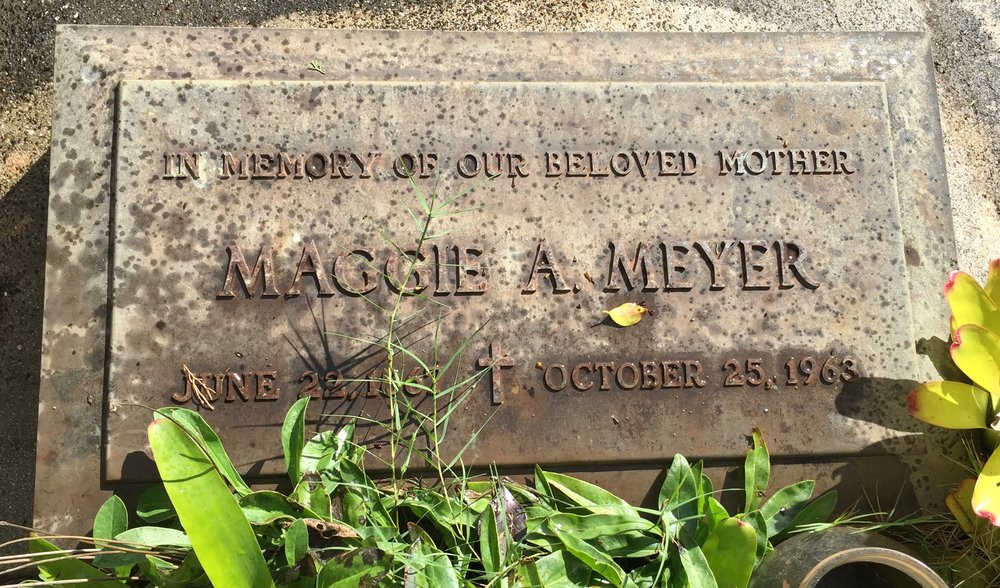 Headstone of Margaret McCorriston, 1963