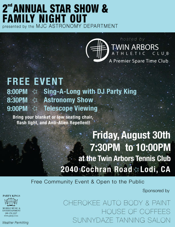 Twin Arbors Athletic Club | Event Flyer