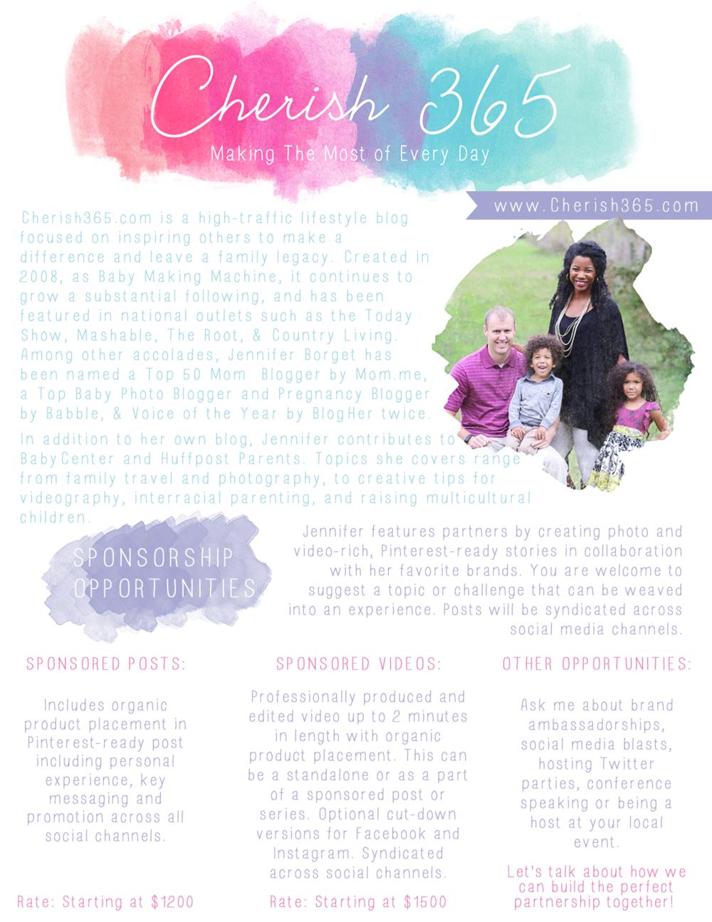 Cherish 365 | Media Kit