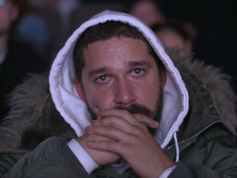 Shia La'Beouf Crying at the Evens Stevens Movie