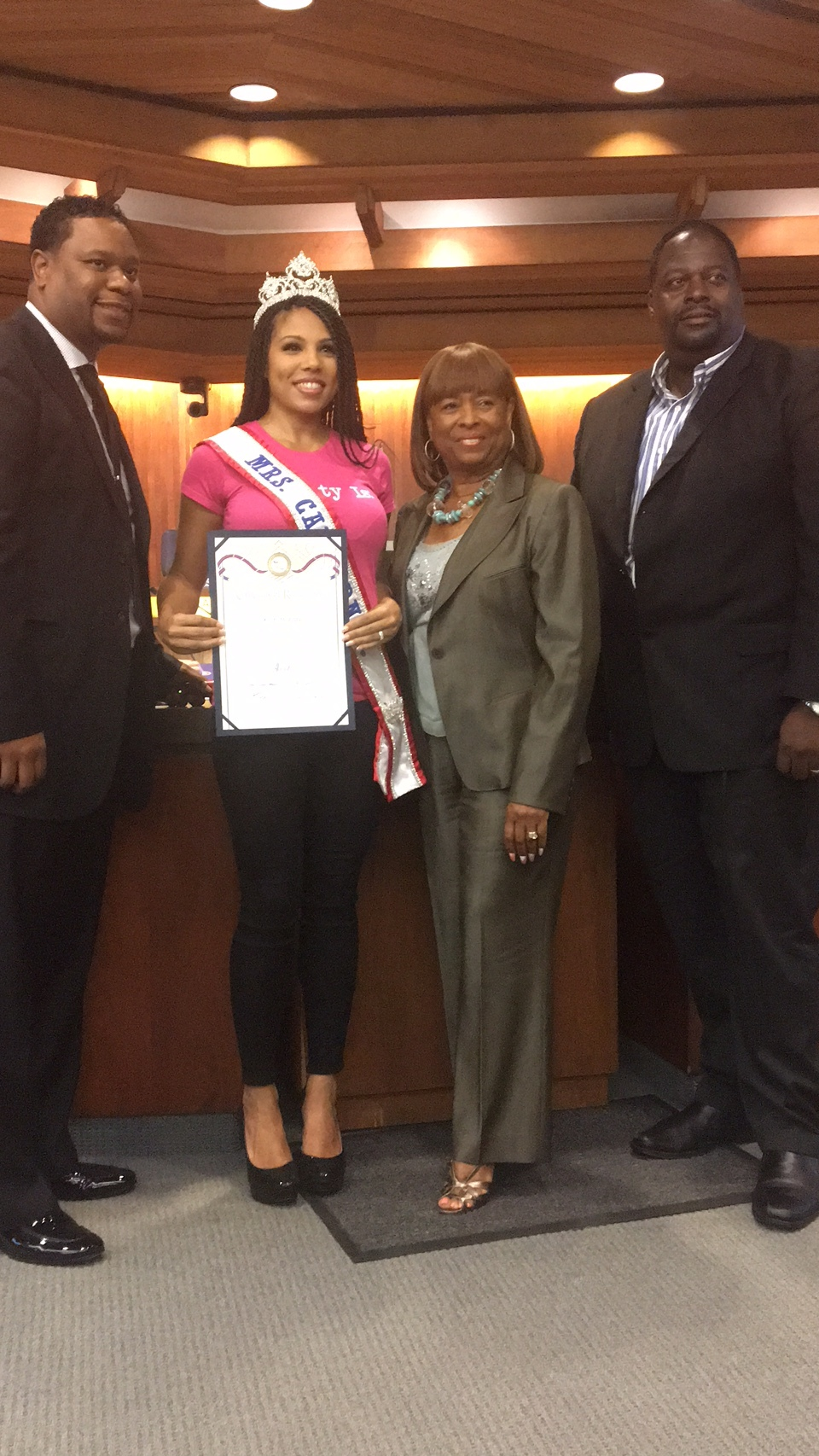 Mrs. California 2017 honored by the Carson City Council.
