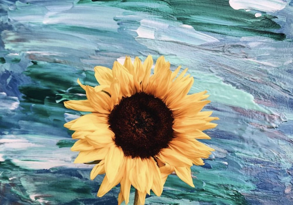 In the name of art, add any sunflower to a painting for optimal happiness