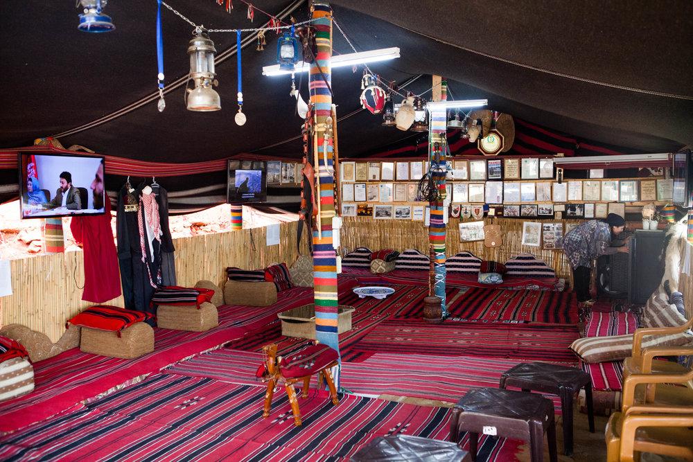 Abu Salah's Bedouin tent in Deir Hanna