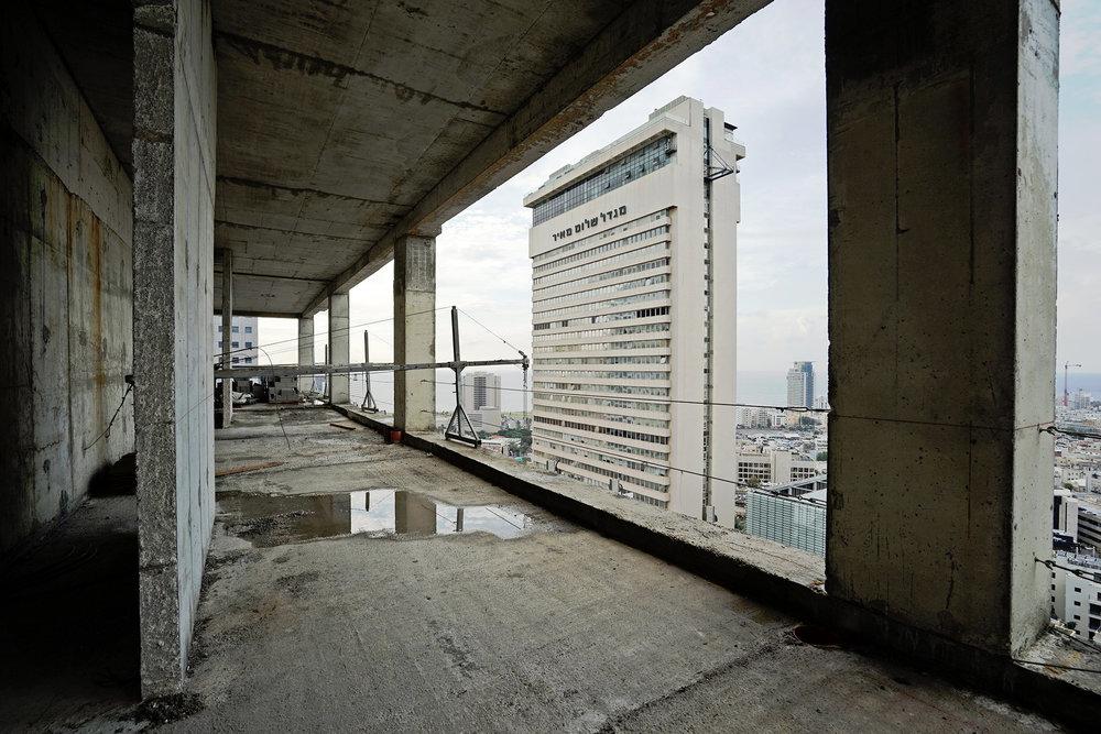 Tel Aviv architecture, construction, Migdal Shalom, city view