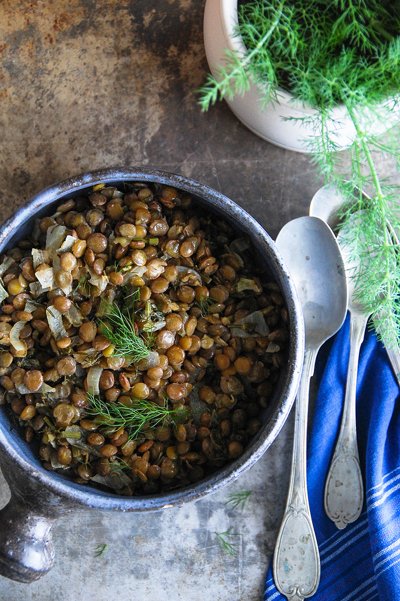 green lentils warm salad