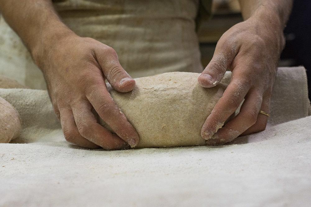 Roman Giler, Ovdey Adama, bakery, sourdough, bakers, Beit Hashita, kneading dough, bread maker