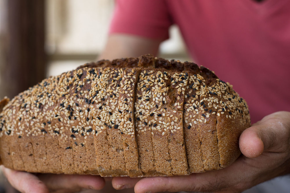 Roman Giler, Ovdey Adama, bakery, sourdough, Beit Hashita, bread, fresh loaf, sliced bread