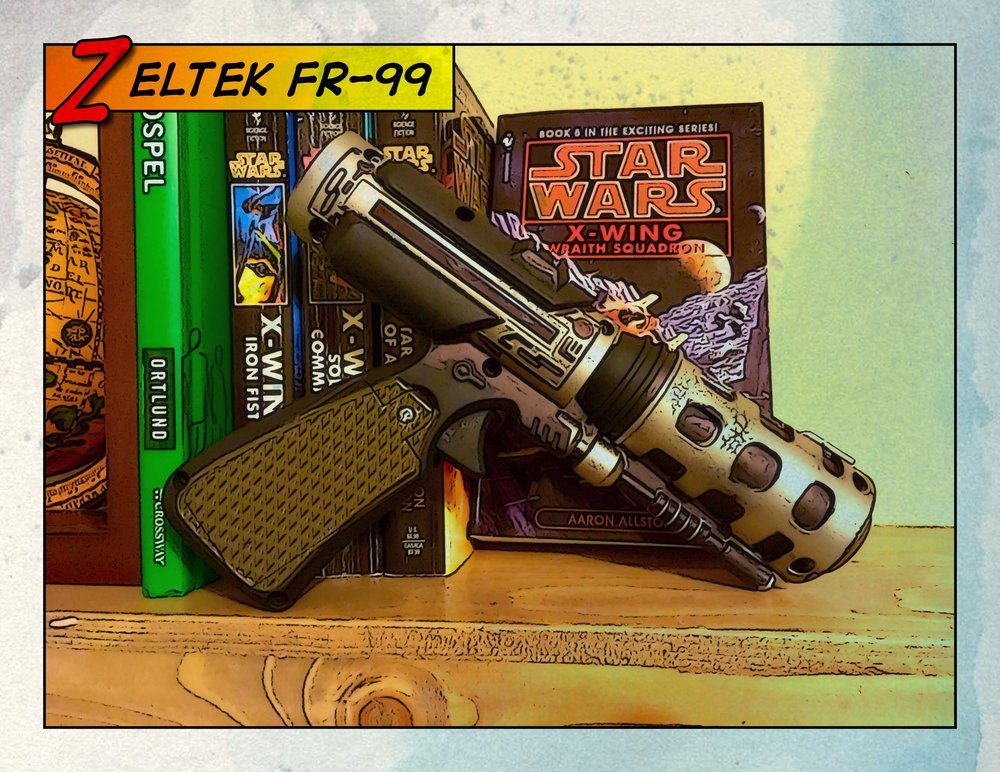 Behold the (fictional) Zeltek FR-99 holdout blaster: the leading choice of budget-minded quartermasters throughout that galaxy far, far away.