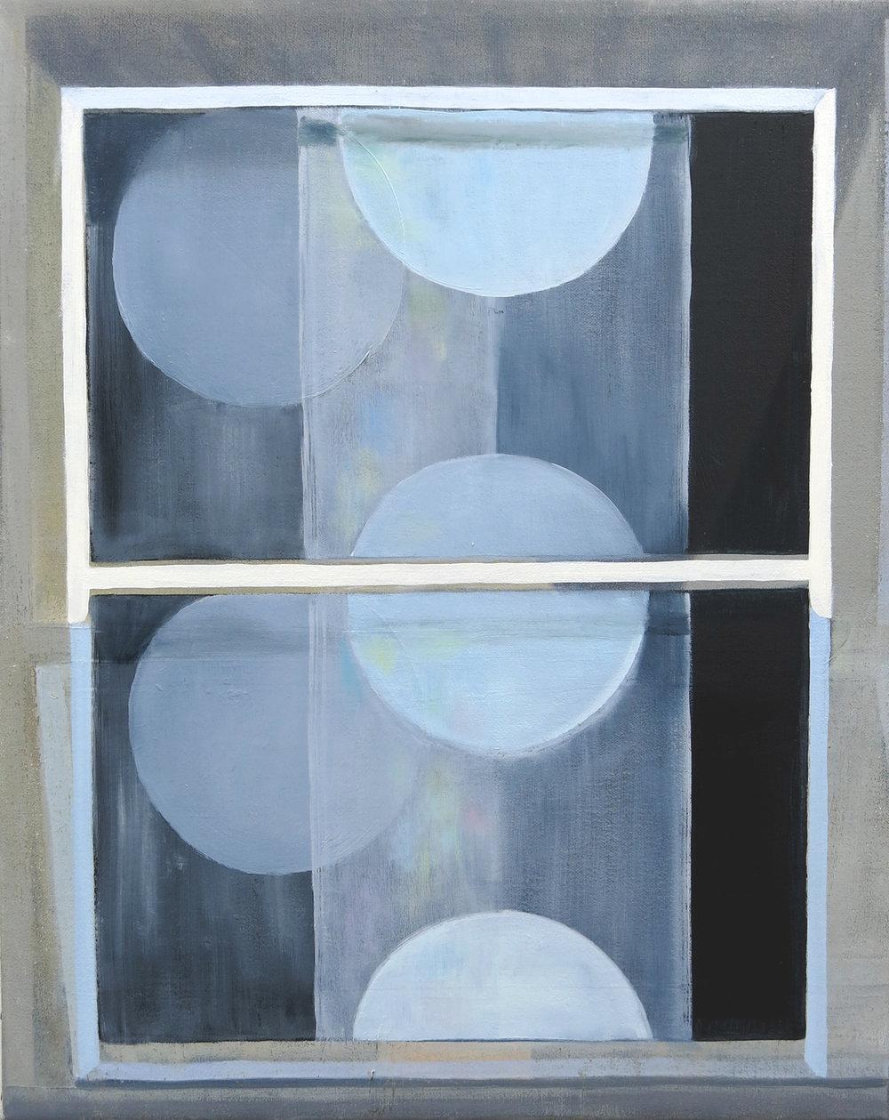 Double Blind    2016, oil on canvas, 30 x 40cm