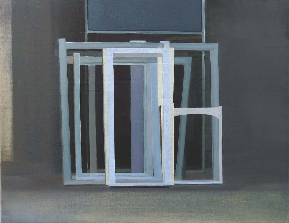 Window Frames II    2014, oil on canvas, 35 x 45cm