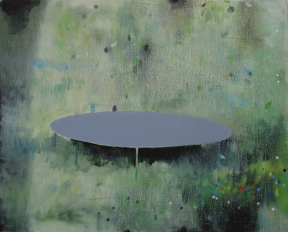 Trampoline    2010, oil on canvas, 40 x 50cm
