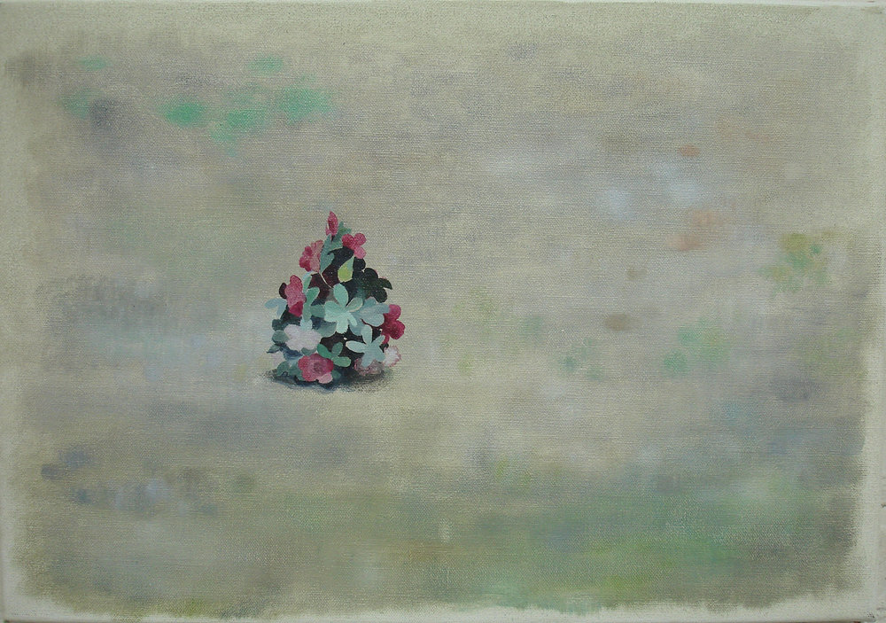 False Plant    2008, oil on canvas, 36 x 50cm