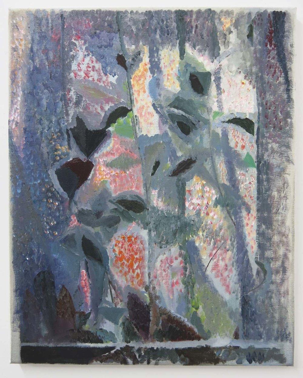 Night Plant & Blind    2017, oil on canvas, 50 x 40cm