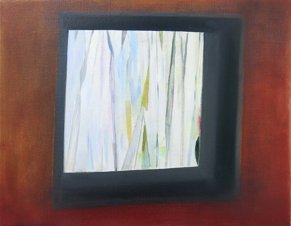 Square Window    2016, oil on canvas, 35 x 40cm