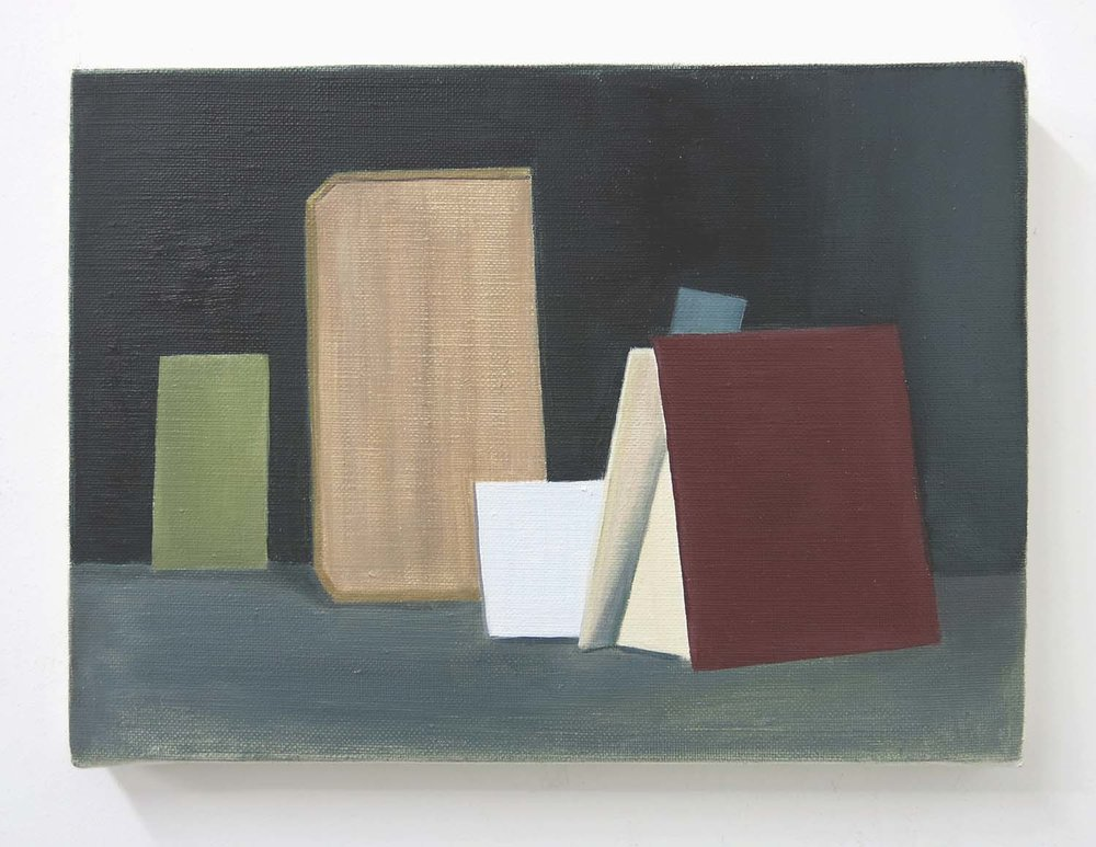Seven Boards    2017, oil on canvas, 24 x 33cm