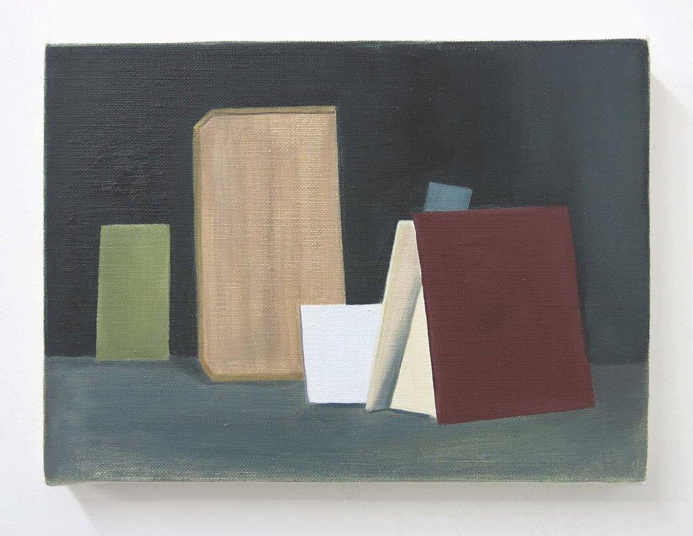 Seven Boards    2017, oil on canvas, 24 x 33cm