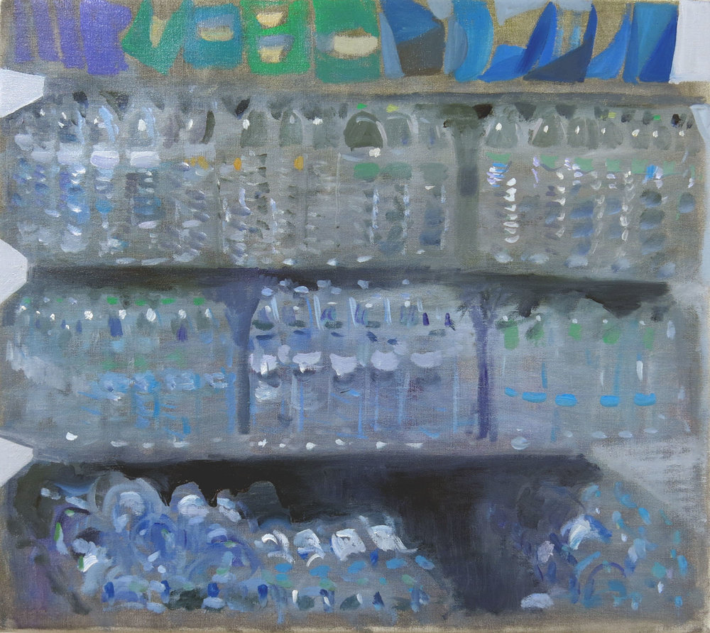 Water & Crisps    2017, oil on canvas