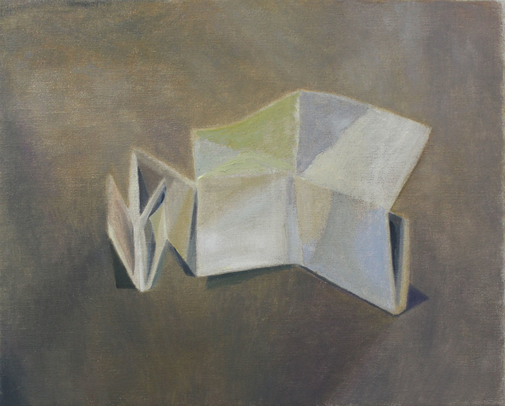 Folded Box    2018, oil on canvas, 33 x 41 cm