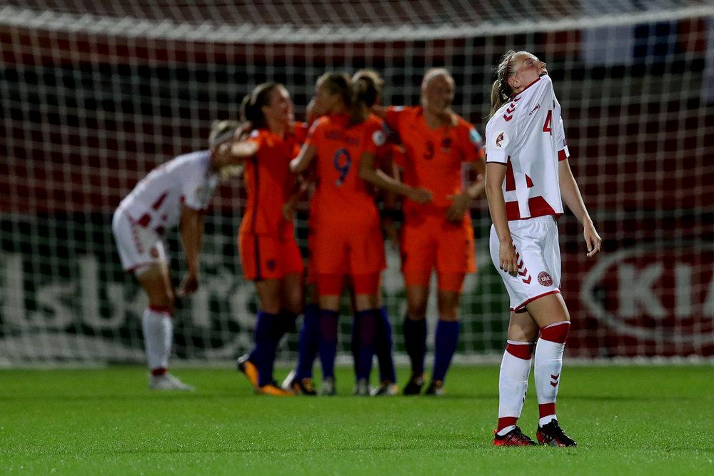 Maja Kildemoes med et sigende udtryk efter det smalle nederlag til værterne. Foto: Maja Hitij/Getty Images