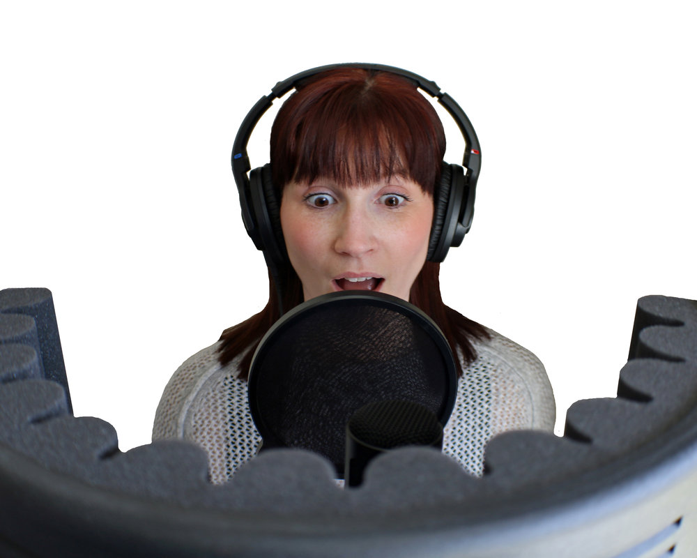 Alex records her vocals for the song Missing Things from our show Things That Go Bump