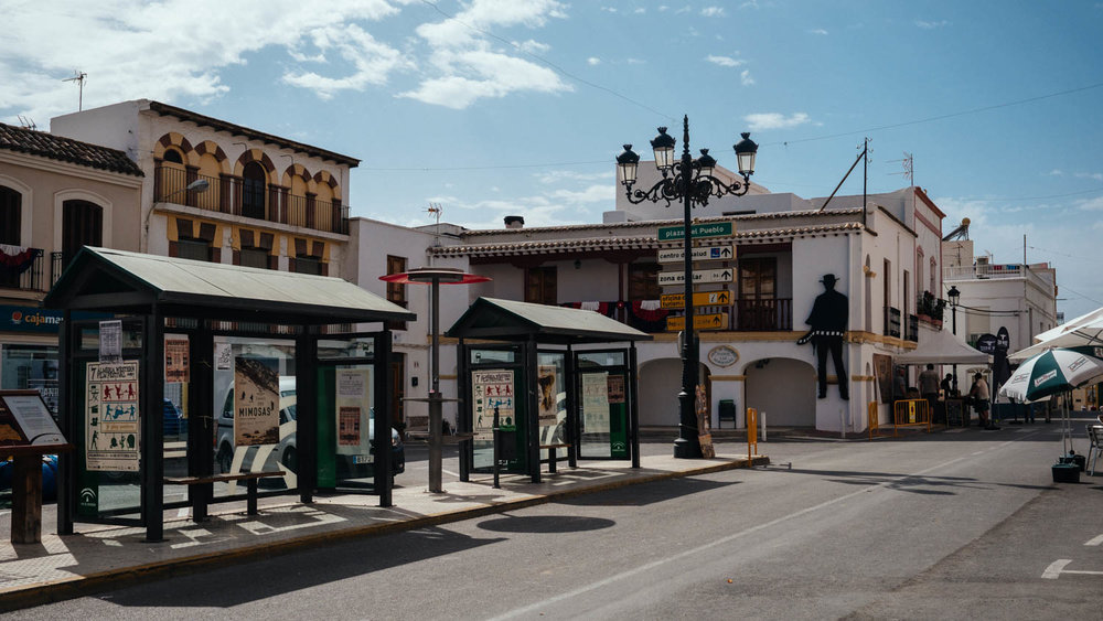 The town of Tabernas has a silhouette cut-out of Clint Eastwood hanging on a building in the central plaza.