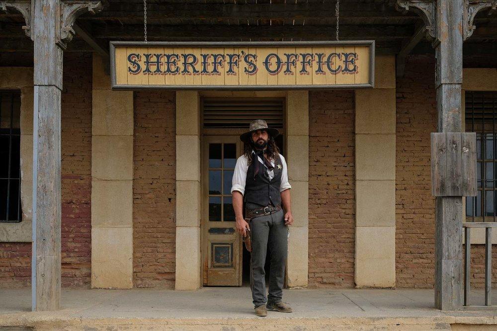 Diego Garcia Jr. plays a sheriff in Oasys MiniHollywood's Wild West show.