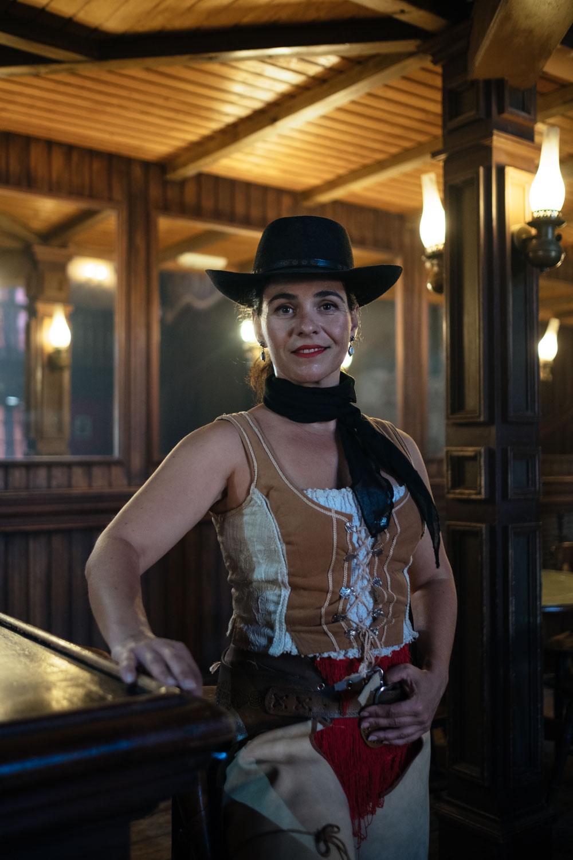 Alicia Ruiz leads Oasys MiniHollywood's troupe of dancers.